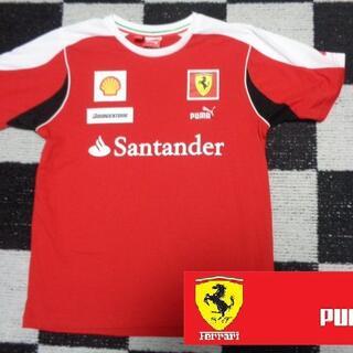 フェラーリ(Ferrari)の【プーマxフェラーリ】コットンTシャツ164cm メンズM程度(メンテナンス用品)