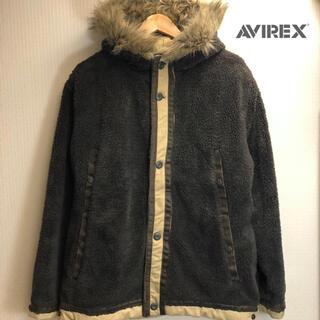 アヴィレックス(AVIREX)のAVIREXボアジャケットブルゾンもこもこブルゾンメンズミリタリージャケット(ミリタリージャケット)