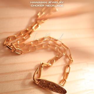 choker necklace(ゴールド)(ネックレス)