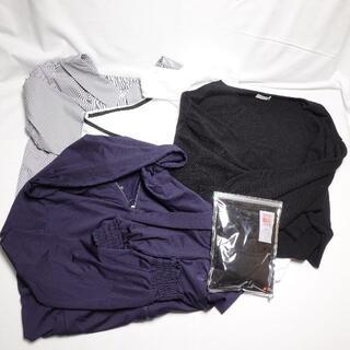 ユニクロ(UNIQLO)の☆UNIQLO/GU...☆ヒートテック パーカー ニットの5点セット♪(Tシャツ(長袖/七分))