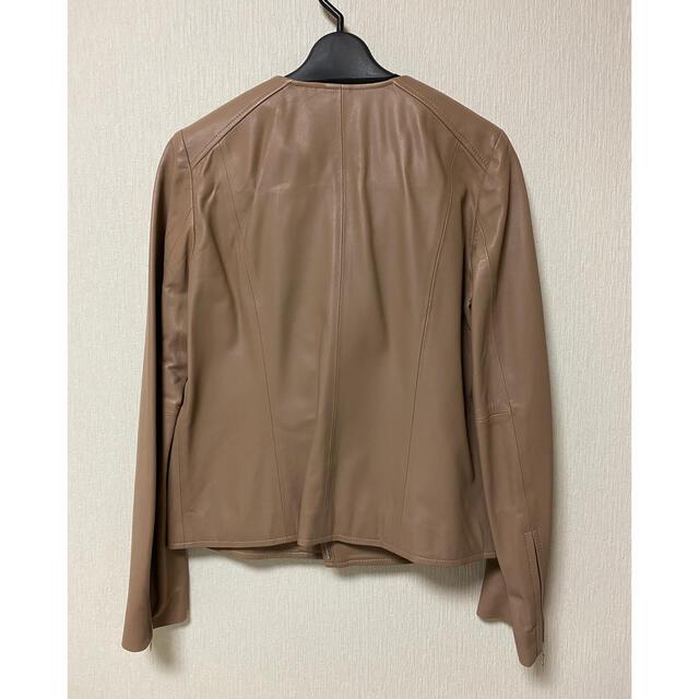 UNTITLED(アンタイトル)の未使用美品 untitled レザージャケット レディースのジャケット/アウター(ライダースジャケット)の商品写真
