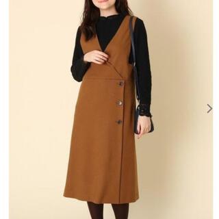 Couture Brooch - ☆美品☆オレンジ ジャンパースカート ジャンスカ