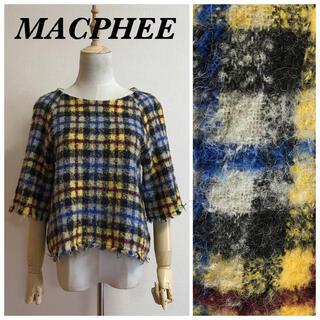 マカフィー(MACPHEE)のMACPHEE アルパカ混チェックプルオーバー(ニット/セーター)