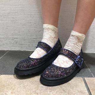 メリージェニー(merry jenny)のメリージェニー ラメ グリッターストラップ シューズ(ローファー/革靴)