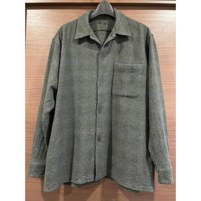 COMOLI(コモリ)のCOMOLI 20AW ウールチェック オープンカラーシャツ グリーン 2 メンズのトップス(シャツ)の商品写真