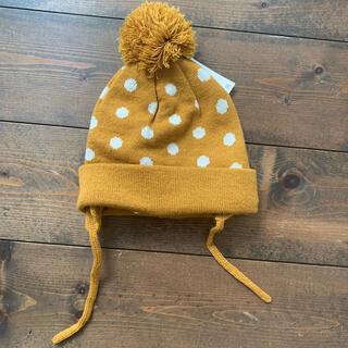 ザラキッズ(ZARA KIDS)のzara baby ドット柄ニット帽 ニットキャップ(帽子)