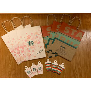 Starbucks Coffee - 「スターバックス」2020年 桜、ホリデー +メッセージカード 紙袋 ショッパー