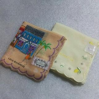 ルルギネス(LULU GUINNESS)のルルギネス&Afternoon Tea☆ガーゼハンカチ2枚セット(ハンカチ)