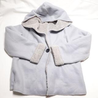 ☆SUCRE NEIGE☆水色のボアジャケット♪レディースМサイズ(ダッフルコート)