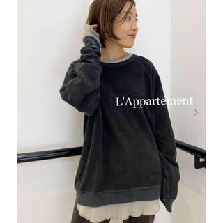 L'Appartement DEUXIEME CLASSE - タグ付新品⭐️アパルトモン REMI RELIEF リバーシブルスウェット 黒