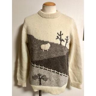 サンタモニカ(Santa Monica)のニュージーランド ビンテージ 羊柄 アラン ニット セーター xpv (ニット/セーター)