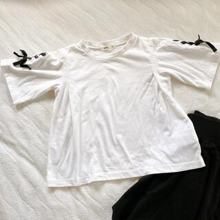 エムピーエス(MPS)のMPS ライトオン 半袖 Tシャツ  女の子  白 ホワイト サイズ130(Tシャツ/カットソー)