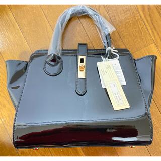 【☆新品☆ハンドバッグ ショルダーバッグ 2way 黒 ブラック(ハンドバッグ)