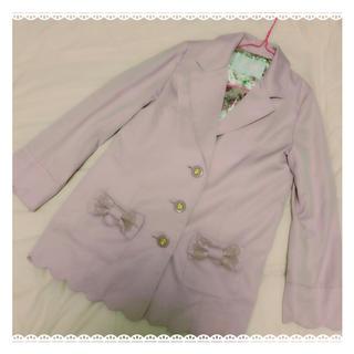 リズリサ(LIZ LISA)のリズリサ♡リボン付きスプリングジャケット(テーラードジャケット)