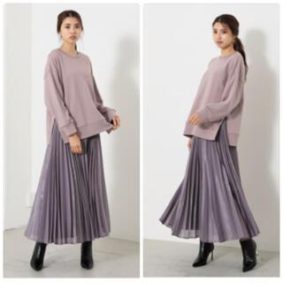 rienda - オーガンジープリーツJ/WフレアSK-R プリーツスカート スカート プリーツ