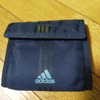 アディダス(adidas)のadidas財布(紺色)(折り財布)
