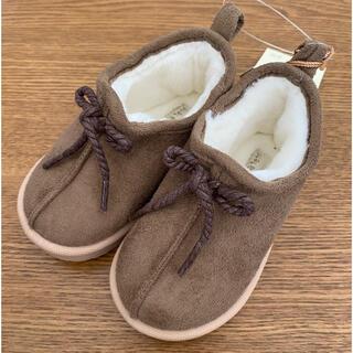 シマムラ(しまむら)の完売品⋈新品⋈テータテート ボアシューズ ブラウン 13センチ(ブーツ)