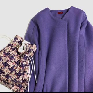 ドゥロワー(Drawer)のシャルマントサックリントンツイードcharmant sac巾着バッグブラウス(ハンドバッグ)