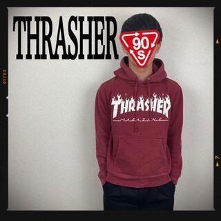 スラッシャー(THRASHER)のスラッシャー THRASHER パーカー スウェット 古着 えんじ色 スケボー(パーカー)