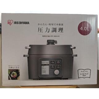 アイリスオーヤマ(アイリスオーヤマ)の新品未開封 アイリスオーヤマ  電気圧力鍋   4.0L KPC-MA4 大容量(調理機器)