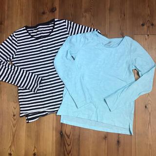 H&M - H&M 女の子 トップス 長袖Tシャツ ボーダー ブルー 140
