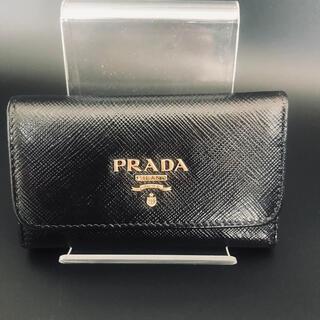 プラダ(PRADA)のプラダ PRADA キーケース レザー 5連フック ブラック(キーケース)