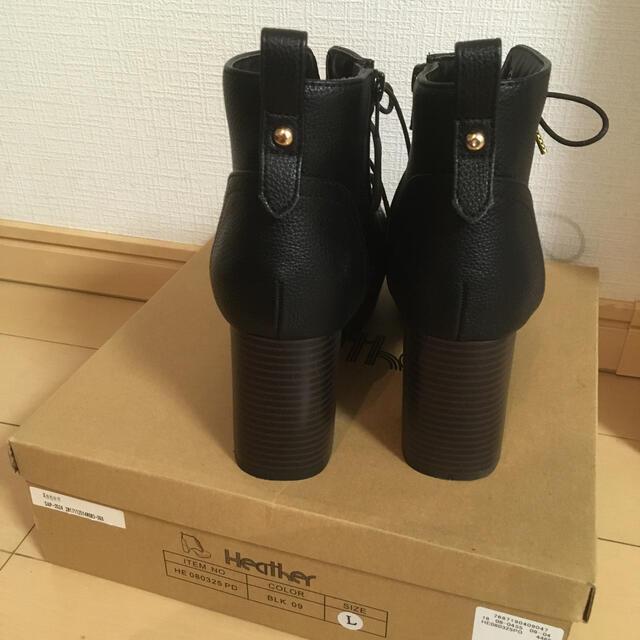 heather(ヘザー)のHeather レースアップショートブーツL レディースの靴/シューズ(ブーツ)の商品写真
