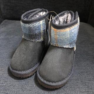 シマムラ(しまむら)のしまむら 【新品】ハリスツイード ムートンブーツ 14cm(ブーツ)