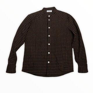 トゥモローランド(TOMORROWLAND)のUMIT BENAN ウール チェック ノーカラー 中綿 シャツジャケット(ノーカラージャケット)