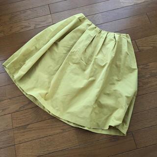 グリーンレーベルリラクシング(green label relaxing)のイエロー スカート(ひざ丈スカート)