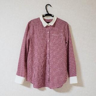 HONEYS - Domfortbasic赤色チェックシャツ ギンガムチェックシャツ ハニーズ