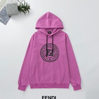 フェンディ(FENDI)の超人気 フェンデイ FENDI 男女兼用 パーカー 帽子付き XL(パーカー)