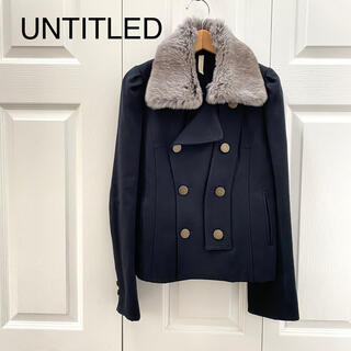 アンタイトル(UNTITLED)のアンタイトル/コート ウールコート 美品 2WAY 衿ファー 襟(その他)