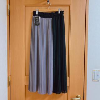 Mila Owen - 超美品*バイカラー ロングプリーツスカート