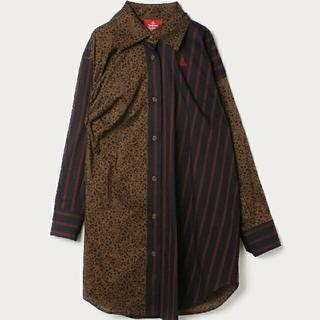 ヴィヴィアンウエストウッド(Vivienne Westwood)のVivienne Westwood 今期 新品 オーブ 切替 シャツ ワンピース(ひざ丈ワンピース)