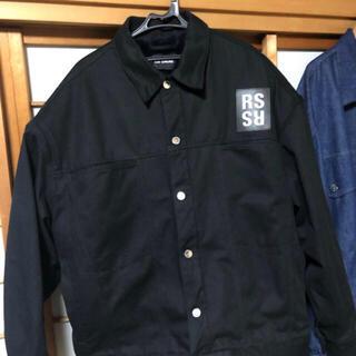RAF SIMONS - ジヨン着用 RAF SIMONS black denim fur jacket