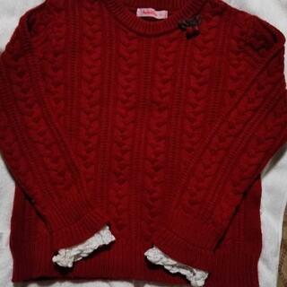 familiar - ◇美品◇ファミリア 赤 ニット セーター 130