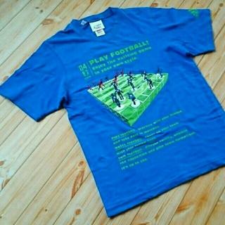 アディダス(adidas)のadidas(KIRIN)U襟半袖Tシャツ ブルー Sサイズ(Tシャツ/カットソー(半袖/袖なし))