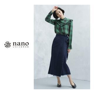 nano・universe - nano・universe SOMETHING/別注ラップスカート IN