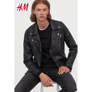 エイチアンドエム(H&M)の新品 安値 H&M ライダース レザージャケット M(ライダースジャケット)