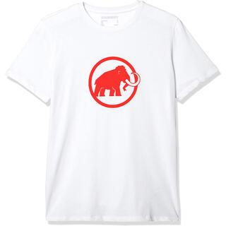 マムート(Mammut)のマムート MAMMUT 半袖Tシャツ マムートロゴTシャツ白 メンズL 新品(Tシャツ/カットソー(半袖/袖なし))