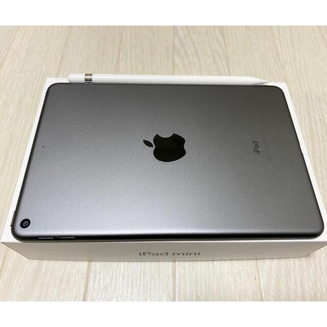 iPad(アイパッド)の【美品】iPad mini5 64gb apple pencil セット スマホ/家電/カメラのPC/タブレット(タブレット)の商品写真