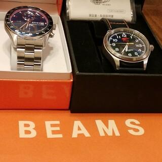 BEAMS - BEAMS腕時計 2個セット クォーツ 稼働中 専用箱、紙バッグ付き