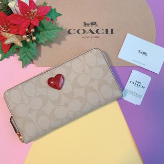 COACH - 【即購入大歓迎】新品♡coach コーチ 限定品 シグネチャー ハート長財布