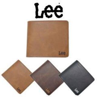 リー(Lee)の送料無料 新品 LEE リー ウォレット 二つ折り 財布 チョコ(折り財布)