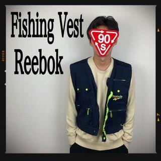 リーボック(Reebok)のリーボック フィッシングベスト ハンティングベスト ベスト 90s 刺繍(ベスト)