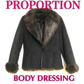 PROPORTION BODY DRESSING - プロポーション フェイクムートン ファーコート