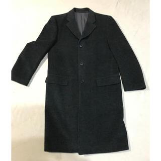 ユニクロ(UNIQLO)の美品 JUN MEN カシミヤ混 ロングコート チェスターコート 黒(チェスターコート)