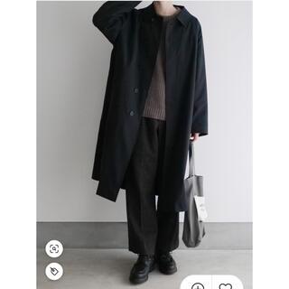 ヤエカ(YAECA)のLENO BAL COLLAR COAT   BLACK1(ステンカラーコート)