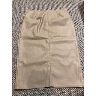 IENA - MARQUE エコレザータイトスカート
